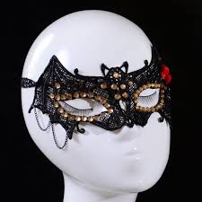 Halloween Half Masks by Black Lace Eye Mask Venetian Masquerade Fancy Dress Party V For