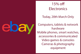 EBay Coupon Code 15% Off Electronics 20/3/19 - Tamebay