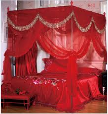 Queen Canopy Bed Curtains by Luxury 4 Post Bed Curtain Canopy Mosquito Net Cal King Queen Twin