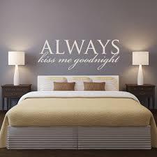 baise dans la chambre maître tête de lit chambre sticker citations baiser toujours moi