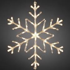 Snowflake Outdoor Light 60cm Warm White LED Battery Operated