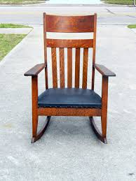 Arts And Crafts Mission Tiger Oak Rocker Circa 1900 ... Antique Arts Crafts Mission Youth High Chair Original Local Pick Up Mission Oak Library Table Desk 42 12 Across 26 Deep 30 Pressed Back 39 At 18 To Seat Victgeorgian Childs Metamorphic A Set Of Four Style Oak High Back Ding Chairs Mode 3 Ways To Increase The Height Ding Chairs Wikihow Vintage Arts And Crafts Or Mission Plant Stand Style Oak Tv Stands The Fniture Shop Stow Leaf Set Dark Bow Arm Morris Brown Cherry Tags Maple Big Armchair Pair In Charles Rohlfs