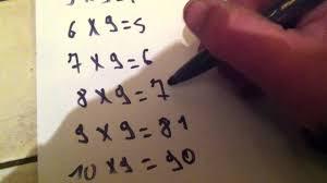 comment apprendre table de multiplication astuce pour réussir sa table de multiplication de 9 maths