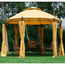 11.5FT Round Outdoor Patio Canopy Gazebo 2-Tier Roof Tent Shelter ... Amazoncom Claroo Isabella Steel Post Gazebo 10foot By 12foot Outdoor Stylish Modern Sears For Any Yard Ylharriscom 10 X 12 Backyard Regency Patio Canopy Tent With Gazebos Sheds Garages Storage The Home Depot Perfect Solution Pergola This Hardtop Has A Umbrellas Canopies Shade Fniture Instant 103 Best Images About On Pinterest Pop Up X12 Curtains Framed
