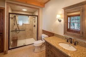 fiberglass shower pan bathroom rustic with wood wainscoting