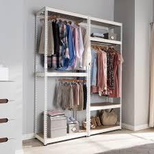 Baxton Simms Shoe Cabinet by Baxton Studio Gavin White Metal 7 Shelf Closet Storage Racking