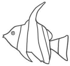 Angel Fish Kids Drawing Of Colouring Page