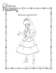Princess Gwenevere Coloring Page And The Jewel Riders