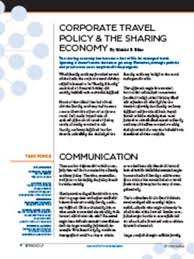 Corporate Travel Policy The Sharing Economy