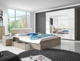 schlafzimmer komplett set bettgestell 4 teilig eiche sanremo weiß neu