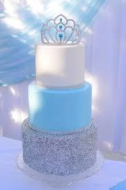 Cinderella Birthday Party Cake Table Princess Blue Girl Blue