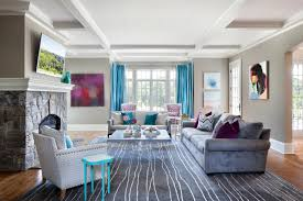 grey and aqua living room home design ideas
