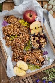 rezept nuss müsliriegel gesunder snack für den berg