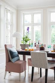 Ikea Dining Room Chair Covers by Henriksdal Chair Covers Medium Skirt In Tegnér Melange Rose Nils