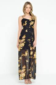 stella tansey button front maxi dress in black iclothing