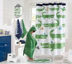 Pottery Barn Outdoor Curtains by Ribbon Ruffled Shower Curtain Pottery Barn Kids Gingham