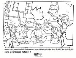 Kids Coloring Page From Whats In The Bible Showing Holy With Spirit Pages