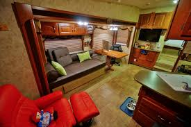 Main Living Area Of The Cougar Fifth Wheel