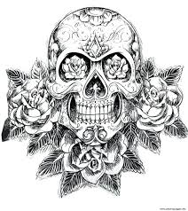 Coloring Pages Adults Zen Zendoodle For Print Sugar Skull Hard Adult Difficult To Do Online