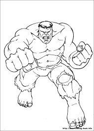 Coloring Pages Incredible Hulk Printable Of The