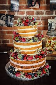 Naked Sponge Cake Wedding Fruit Layer Fun Camping Country Outdoor