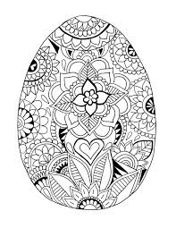 DOWNLOAD Easter Egg Coloring Page