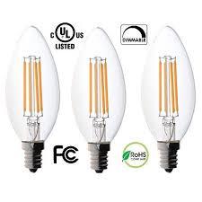 3 pack bioluz led dimmable filament candelabra clear 60 watt led