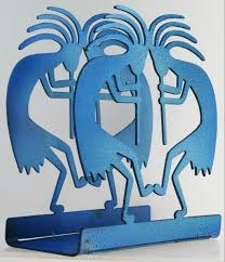 Kitchen Decor Blue Kokopelli