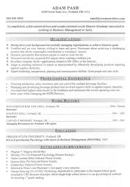 Good MBA Business Management Or Sales Candidate Resume