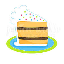 Slice Cake Clipart Slice Birthday Cake Cute Digital Clipart Cake Clip Art Music Clipart