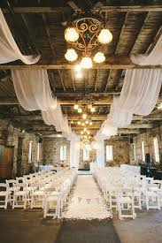 So Pretty And Elegant Draped Fabric Adds To The Look For This Barn Wedding