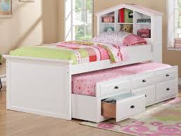 Full Size Trundle Bed with Drawers Decorate White Twin Trundle