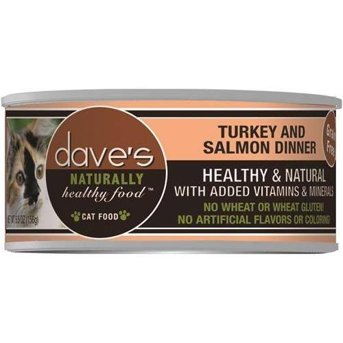 Dave's Naturally Healthy Grain Free Cat Food - Chicken and Herring Dinner Formula, 5.5oz