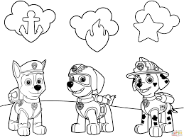 Paw Patrol Badges Coloring Page Throughout Printable Pages