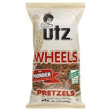 Utz Halloween Pretzels Nutrition Information by Utz Pretzels Wheels The Pounder 16 Oz 453 6 G Rite Aid