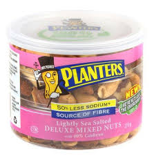 Planters Lightly Sea Salted Deluxe Mixed Nuts