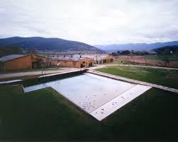 bureau la vall rcr arquitectes alberca en la vila de trincheria vall de bianya