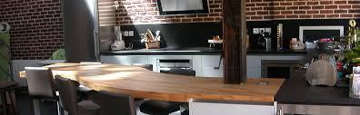 table de cuisine en bois massif flip design fabricant de plan de travail en bois massif sur