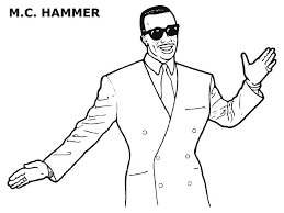 MC Hammer Coloring Pages Black History Month