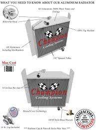 100 Studebaker Truck Parts 3 Row Performance Champion Radiator For 1949 1950 1951 1952