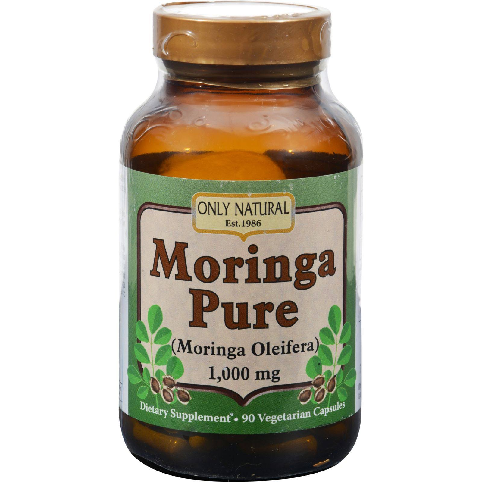 Only Natural Moringa Pure Dietary Supplement - 100mg, 90ct