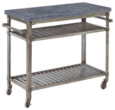 Home Styles Damaris Metal Kitchen Cart View in Your Room