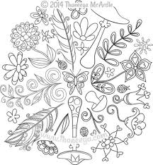 Nature Mandalas Coloring Book Thaneeya Mcardle Within Brilliant And Also Lovely Mandala Pages