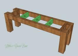 DIY Dining Table Bench Plans Room Kitchen Diy
