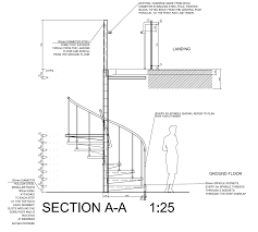 Spiral Staircase Detail Drawings