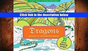 PDF Dragons Adult Coloring Book 31 Stress Relieving Designs Studio Series Artist S