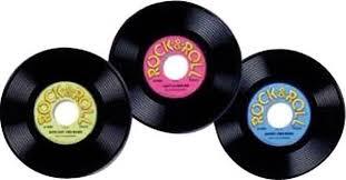 décoration murale disques vinyles rock n roll