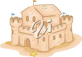 Clipart Illustration Of A Sand Castle On Beach