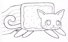 Printable Nyan Cat Coloring Pages Google Twit In Style