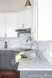 Midwest Tile Lincoln Ne by Gray And White And Marble Kitchen Reveal Marble Subway Tiles